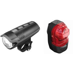 Busch + Müller IXON Pure/IX-Post Juego de luces para bicicleta, black